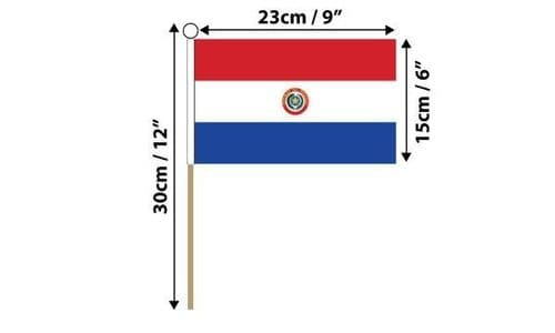 Paraguay Hand Flag
