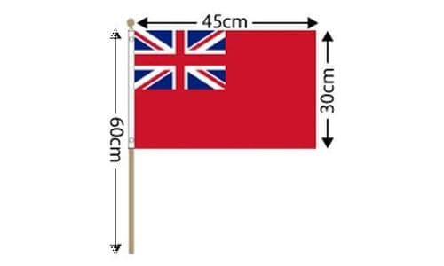 """Red Ensign Large Hand Flag (18"""" x 12"""")"""