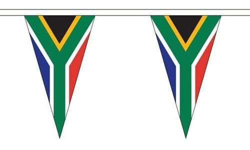 South Africa Triangle Bunting (5m) - 12 Flags