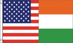 USA and Ireland Friendship 5ft x 3ft Flag