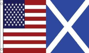 USA and Scotland Friendship 5ft x 3ft Flag