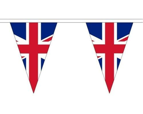 Union Jack Triangle Bunting (5m) - 12 Flags