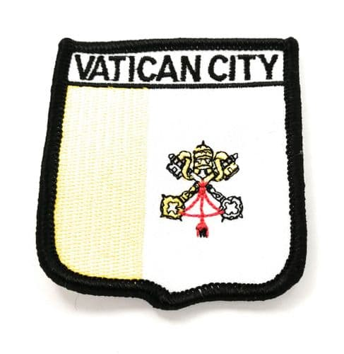 Vatican City Shield Embroidered Sew on patch