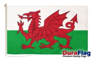 Wales Premium Quality DuraFlagö Rope & Toggle - 5ft x 3ft