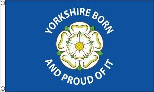 Yorkshire Born And Proud of It 5ft x 3ft Flag