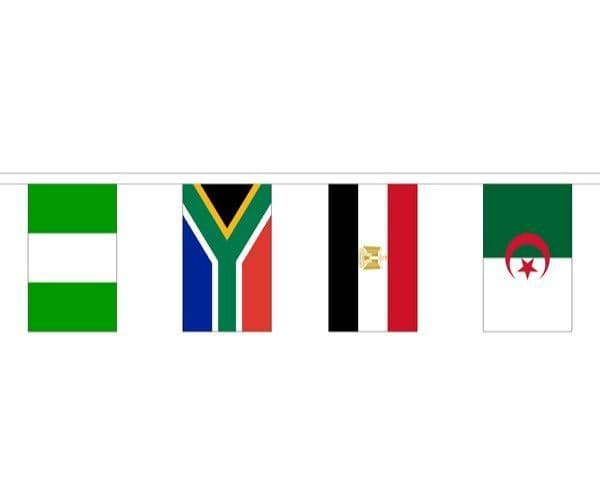 African Country Mixed Bunting (16m) - 53 Flags