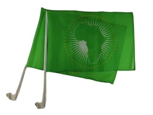 African Union Car Flag - 2 Pack