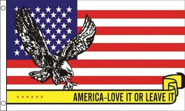 America - Love it or leave it 5ft x 3ft Flag