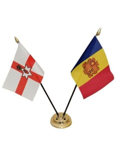 Andorra with Northern Ireland Friendship Table Flag