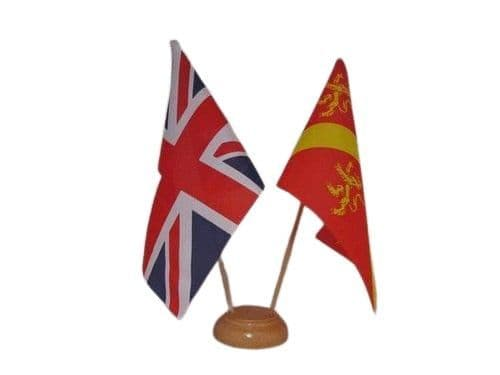 Anglesey Friendship Wooden Table Flag