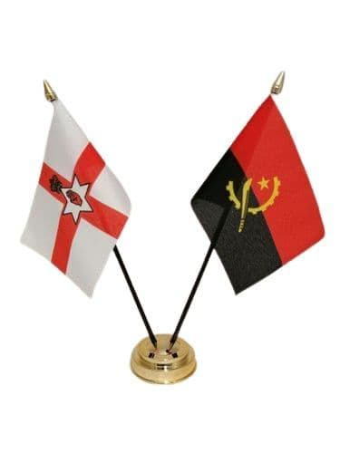 Angola with Northern Ireland Friendship Table Flag