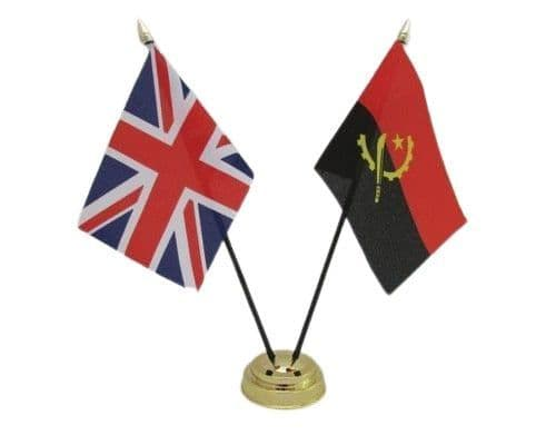 Angola with UK Friendship Table Flag