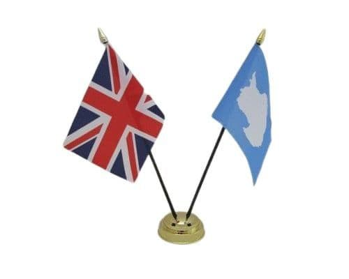 Antartica with UK Friendship Table Flag