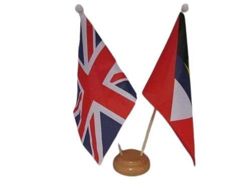 Antigua and Barbuda Friendship Wooden Table Flag