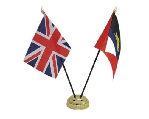 Antigua And Barbuda with UK Friendship Table Flag