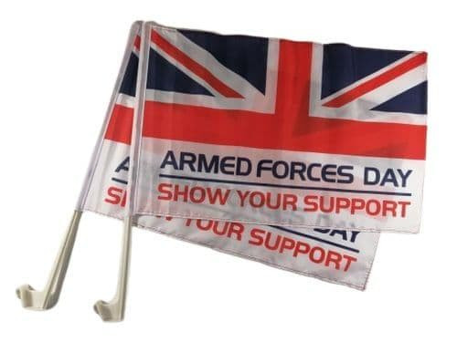 Armed Forces Day Car Flag - 2 Pack