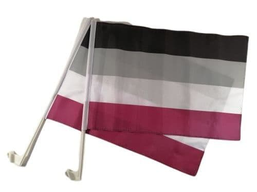 Asexual Car Flag - 2 Pack