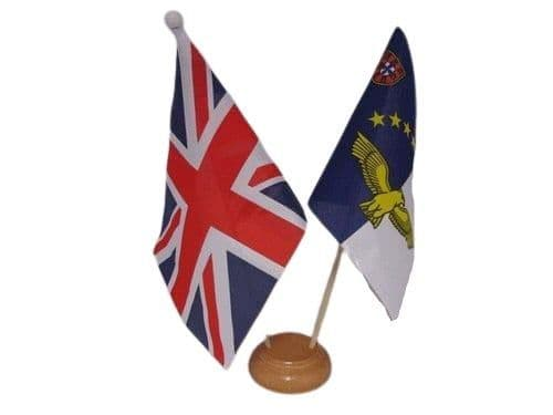 Azores Friendship Wooden Table Flag
