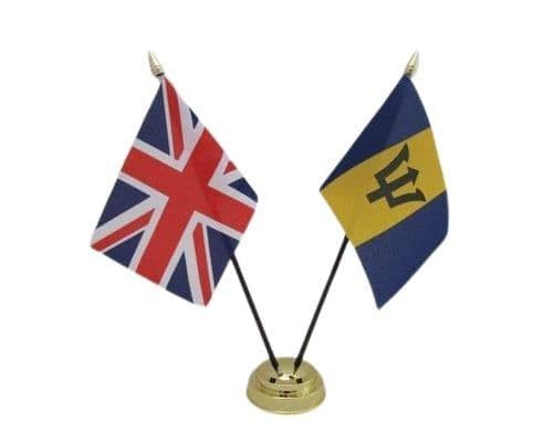 Barbados with UK Friendship Table Flag