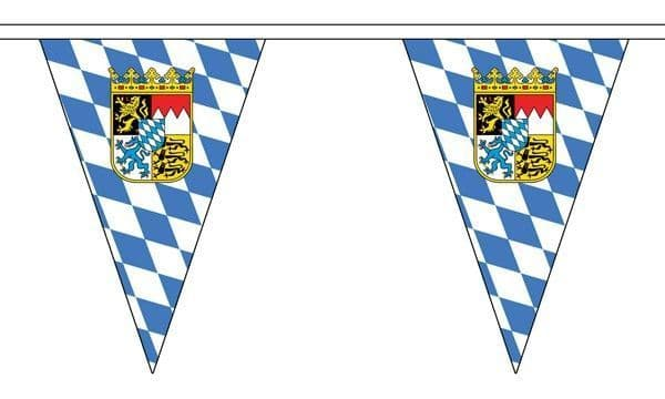 Bavaria Crest Triangle Bunting (20m) - 54 Flags