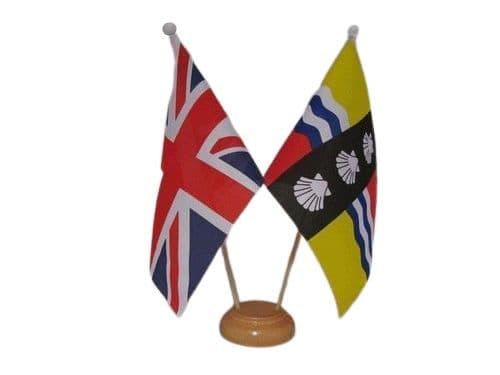 Bedfordshire Friendship Wooden Table Flag