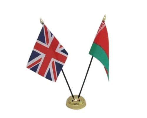 Belarus with UK Friendship Table Flag