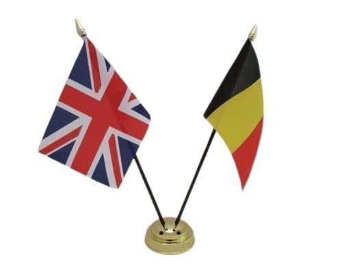 Belgium with UK Friendship Table Flag