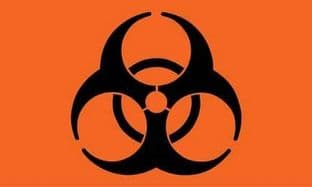 Biohazard 5ft x 3ft Flag