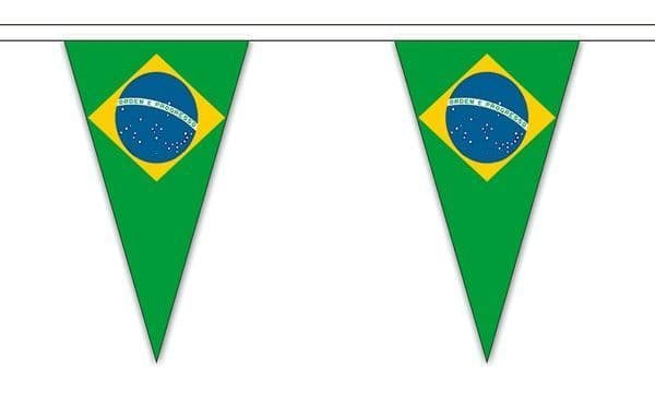 Brazil Triangle Bunting (20m) - 54 Flags