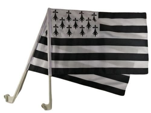 Brittany Car Flag - 2 Pack