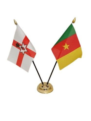 Cameroon with Northern Ireland Friendship Table Flag