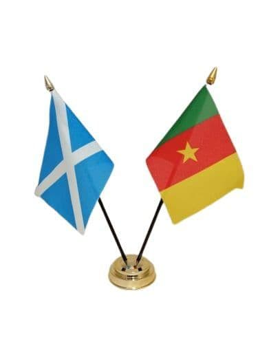 Cameroon with Scotland Friendship Table Flag