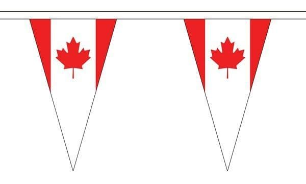 Canada Triangle Bunting (5m) - 12 Flags
