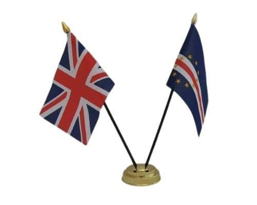 Cape Verde with UK Friendship Table Flag