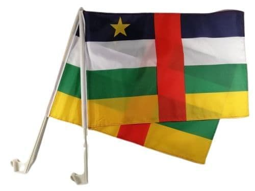 Central African Republic Car Flag - 2 Pack