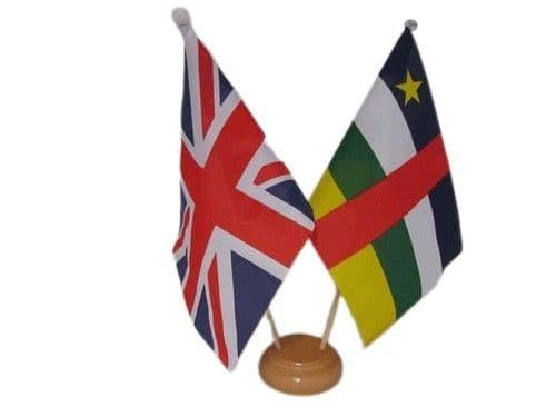 Central African Republic Friendship Wooden Table Flag