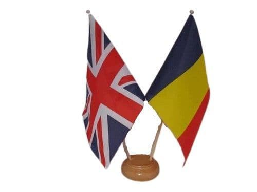 Chad Friendship Wooden Table Flag