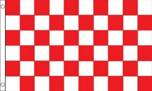 Checkered GIANT Red and White Flag - 8ft x 5ft