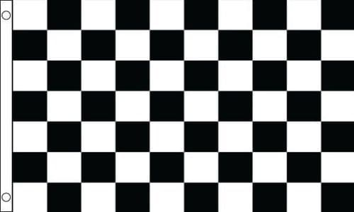 Checkered Heavy Duty Black and White 5ft x 3ft Flag