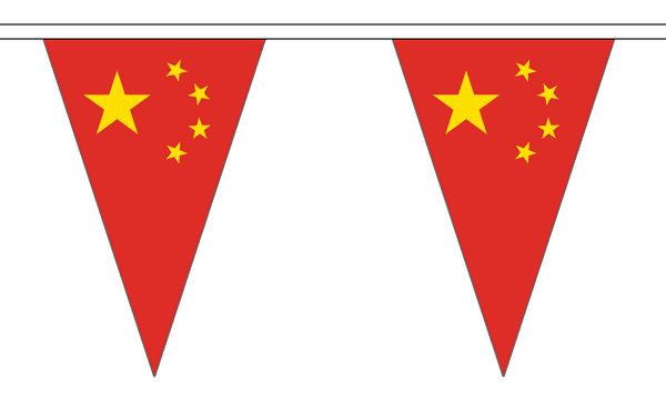 China Triangle Bunting (20m) - 54 Flags