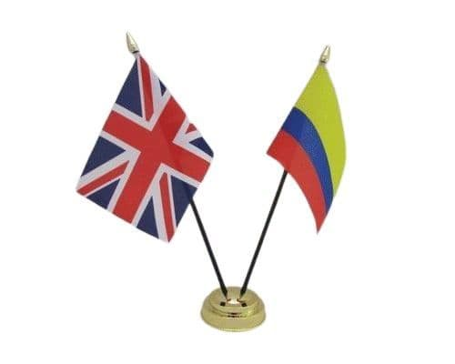 Colombia with UK Friendship Table Flag