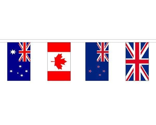 Commonwealth Country Mixed Bunting (16m) - 54 Flags