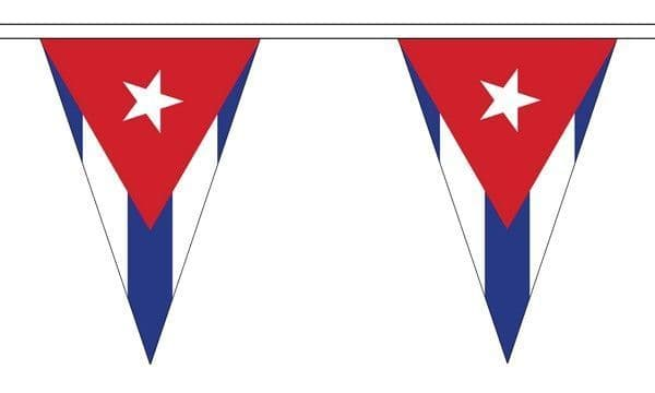 Cuba Triangle Bunting (5m) - 12 Flags