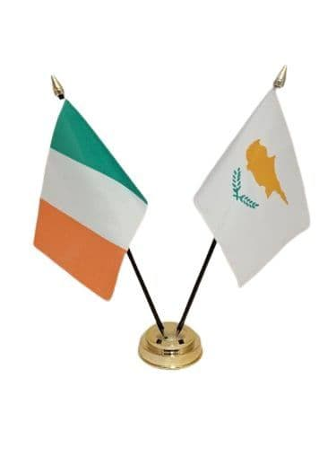 Cyprus with Ireland Friendship Table Flag
