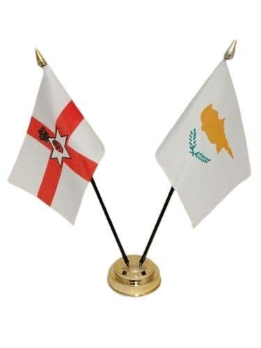 Cyprus with Northern Ireland Friendship Table Flag