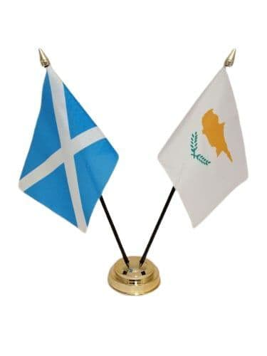 Cyprus with Scotland Friendship Table Flag