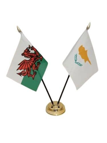 Cyprus with Wales Friendship Table Flag