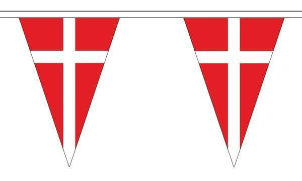 Denmark Triangle Bunting (20m) - 54 Flags