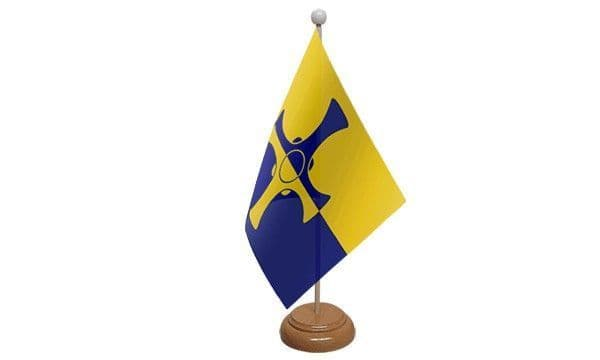 Durham Wooden Table Flag
