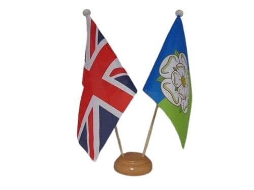 East Riding of Yorkshire Friendship Wooden Table Flag